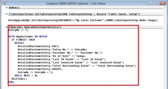 Upgrade Codeunit 2 - 4
