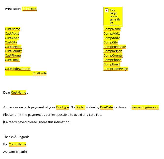 Word Mail Merge -6