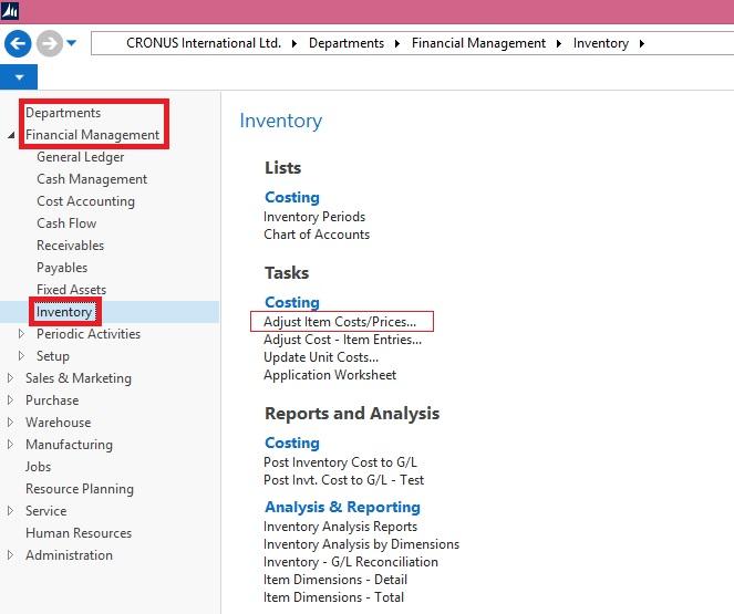 Adjust Item CostsPrices batch job Microsoft Dynamics NAV Community – Unit Price Worksheet