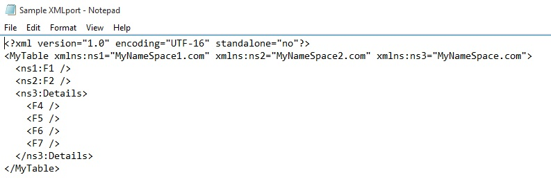 Multiple namespace support in XML Ports – Microsoft Dynamics