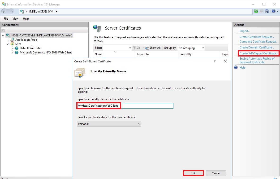 Configuring Ssl To Secure The Connection To Microsoft Dynamics Nav