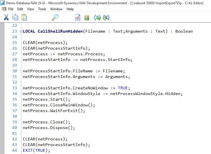 Zip/Un-Zip files using 7Zip - Microsoft Dynamics NAV Community
