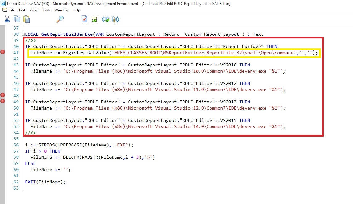 Open Report Design in Visual Studio from Custom Report Layouts | KSD