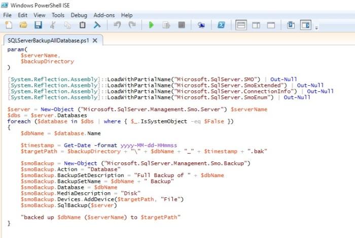SQL Server Database Backup using PowerShell - Microsoft Dynamics NAV