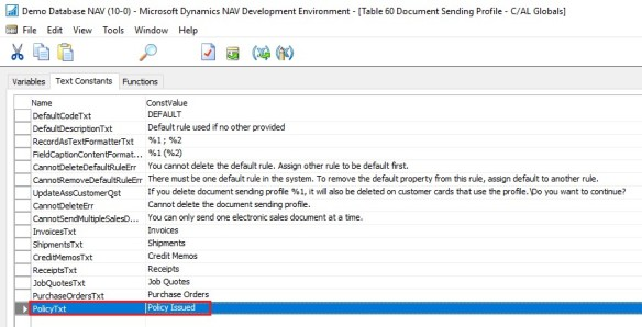 Mail Sending Option in NAV 2017 with Cover Letter