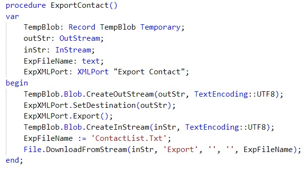 StreamExportContact
