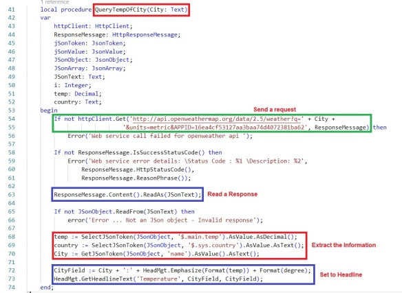 Working with Headline Role Center Page and HTTP Call